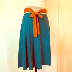 Anthropologie Girls from Savoy Knit Skirt with Bow